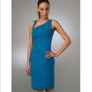DVF Blue tank bodycon blue straps dress 4 Nomie